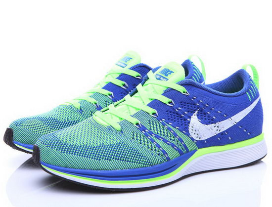 Mens Nike Flyknit Trainer Blue Green Inexpensive